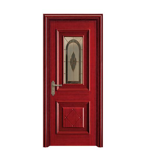 深红仿古复合门