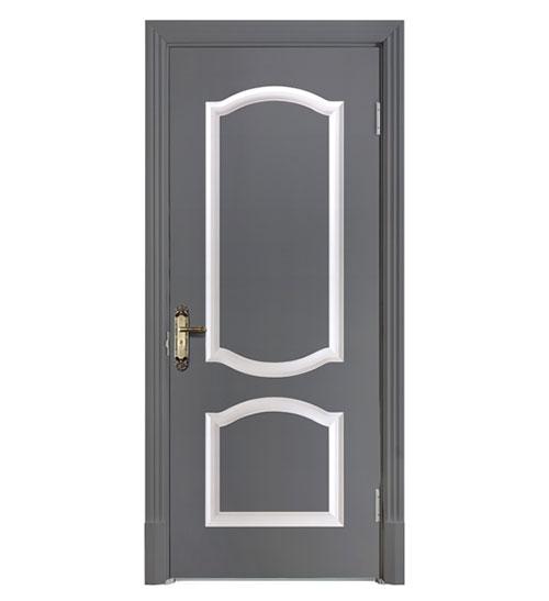 深灰时尚套色门