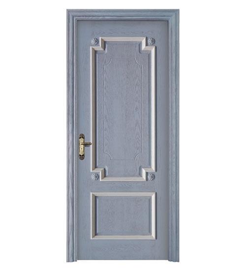 蓝色时尚套色门