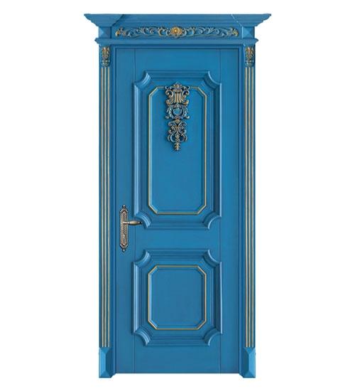 海洋蓝时尚套色门